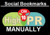 Manully 10 Top Social Bookmarking  sites PR9, PR8, PR7 -- With report of social Bookmarking