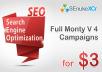 Get you SEnuke the full monty v4 campaign