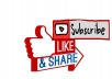 Get you 100 Youtube Subscribers or 200+ Youtube Like