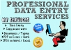 I will do data entry, copy and paste from websites or... for $5