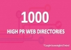 Submit Your Site to 1000 High PR Web Directories