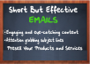 write short but effective emails for your email marke... for $13