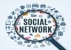 Deliver 800 Social Network Backlinks