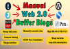 20 Manual High PR DA WEB2.0 BUFFER Site Blog Post to Boost Website Ranking | Safe & Great for Latest SEO