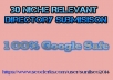 30 Niche Directory submission best for your SEO for $5