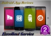 I will post 10 Review with 10 Rating  for Android App for $8