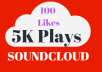 Get 5000 Non-Drop Soundcloud Plays 100 Likes