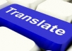 i will translate 3000 words into any language of your... for $5