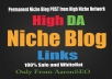 I will create manually 5 Niche Blog POST from High Niche Network- Best result-2015