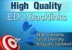 Get High Quality Edu backlink Service for
