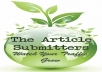 submit your article over 1200 web directories for $5