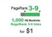 1000 PR 3-9 backlinks