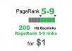200 PR 5-9 backlinks