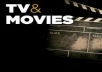 write and guest post on Tv and Movies blog.. for $13