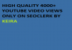 Get Instant 3000 to 4000 Retention Youtube V,iews