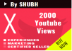 Start fastly 1000 Youtube Views