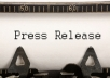I Will Write Press Release & Distribute to top 25 PR sites