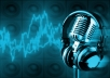 I will record a PROFESSIONAL voice over