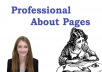 I will write an ABOUT Page for $13