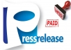 I will submit your Press Relase to 385 premium news sources huge chance to appear in Google News