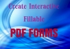 create creative fillable pdf forms for $13