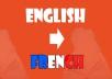 English to French translation