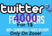 Instant Start 4000+ twitter followers within 12-24 hours