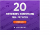 make manual directory submission to 20 PR3 PR7 sites for $14
