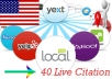 create 40 Live local Citation for local Business Listing