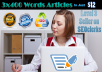 I will Write 3x400 words SEO Article for $12