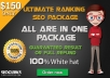 Offer Ultimate Ranking Seo Solution + high Quality bl... for $150