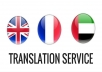 Translating 1100 words between English - French - Arabic up to 4400