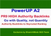 PowerUP A2 - Manual 45 PR9 HIGH Authority Backlinks to Skyrocket Ranking