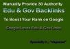 Manually Provide 20 Edu & Gov High Authority Profile Backlinks