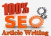 write a high quality 500 word SEO article on any top... for $14