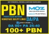 1000 High Quality PBN Permanent Manual DA 90 PA 28-40 Homepage Links