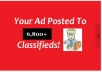 submit your classified ads to 6,800 classifieds for $14