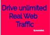 Drive unlimited monthly  Low Bounce Rate Real HUMAN Traffic