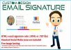 5+ Html Responsive EXCLUSIVELY Email Signature for $20