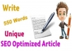 I will write 550 words of content in less than 36 hou... for $5