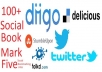 give you 20,Stumbleupon,diigo,delicious,   share groupTotal 100 Social Bookmark