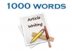 Professional 2000 Word Premium Quality Articles On Any Topic