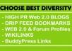 High PR Web 2.0 Contextual Backlink & 2nd Tier linkin... for $4