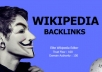 Give You High Authority 100% Niche Relevant Wikipedia Backlinks