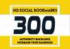 Add your site to 300+ SEO social bookmarks high quality backlinks, rss and ping