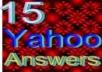 Create 15 Yahoo answers posting