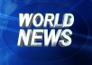 """Publish a Guest post on """"World News"""" with DA 82 Backlink"""