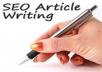 Write 500 Words Quality SEO Original Article for $5