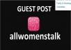 Publish Guest Post On Allwomenstalk