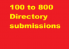 110 web directory submissions for $10